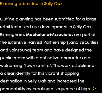 Planning Submitted in Selly Oak Text