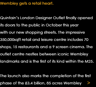 Wembley gets a retail heart