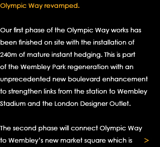 Olympic Way revamped